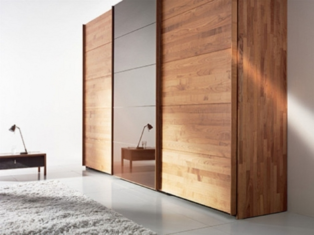 Bedroom Wardrobe Cabinets High Quality Brown Wood Sliding Wardrobes Design Photo 92