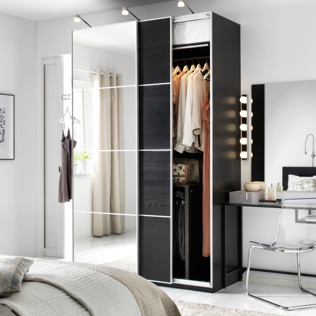 Bedroom Wardrobe Cabinets Ikea Reflect Your Modern Style In Glass Wood And Aluminiumrn Style Pic 05
