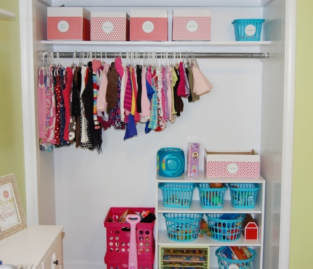 Closet Storage Ideas Organizers With Pink Paper Box Also Stainless Steel Rod Dress Hanger And Blue Plastic Basket Picture 58