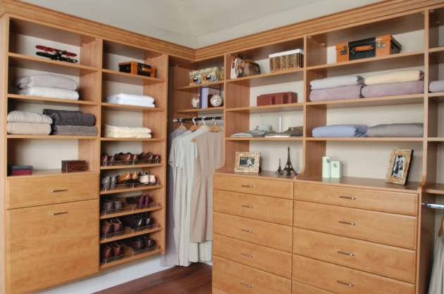 Closet Storage Ideas Simple Wooden Dresser And Pulled Shoes Shelves Photo 23
