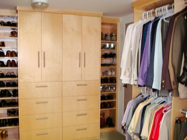 Clothes Wardrobe Furniture Wooden Walk In Closet Layout Envisioned Open Arrangement Storage With Stylish Drawers And Hang Rods System Pics 33