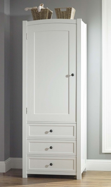 Free Standing Wardrobe White Wooden Cupboard With Three Drawers Photos 79