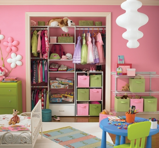 Kids Closet Organizer Small Pink Decor Pic 98
