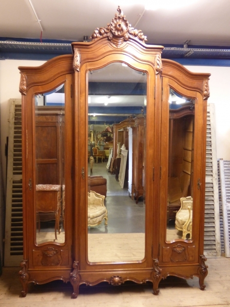 Large Wardrobe Armoire 19th Century Large Antique German Solid Pine Armoire Wardrobe Picture 29