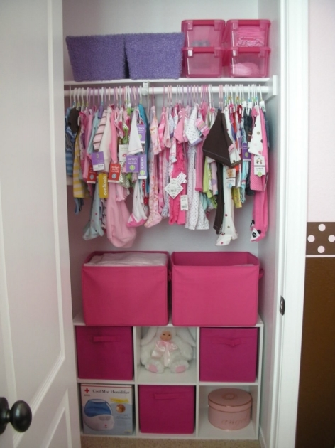Small Closet Ideas Closet Organization Ideas For Kids With Pink Boxes And White Shelves Photo 17