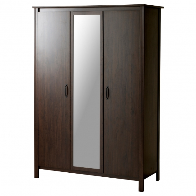 Storage Wardrobe Closet Brusali Wardrobe With 3 Doors Ikea Picture 69