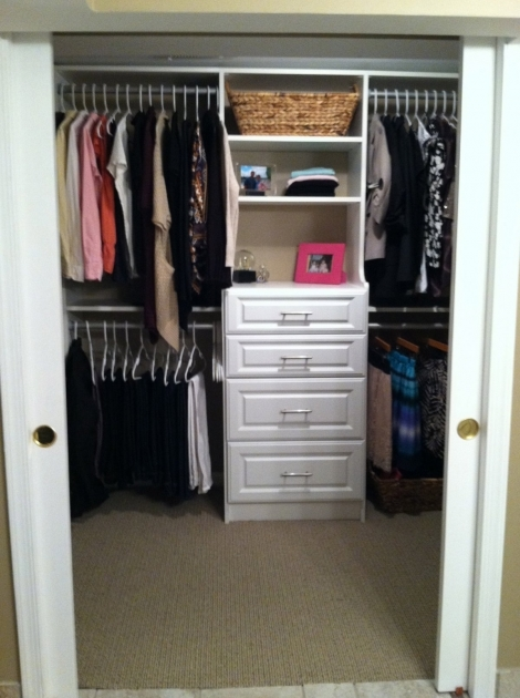 Walk In Closet Ideas For Small Interior White Stained Oak Wood With 4 Drawers Using Chrome Metal Handle Pic 38