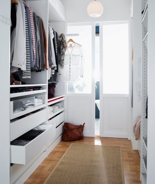 Walk In Closet Ideas For Small Simple Narrow White Walk In Closet Ikea Clothes Design Image 05