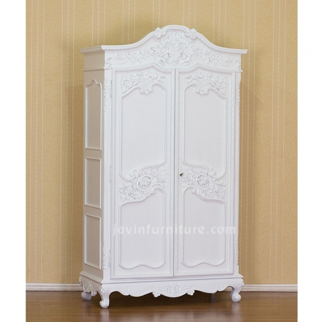 White Armoire Wardrobe French Armoire 2 Doors Furniture Nursery Pictures 98