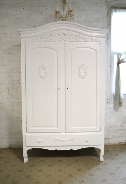 White Armoire Wardrobe Shab Chic Armoires Picture 12