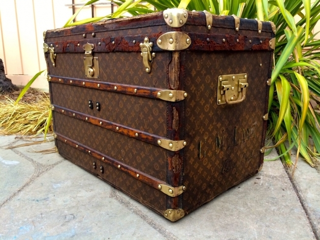 Antique Wardrobe Trunk LOUIS VUITTON Antique Monogram Travel Wardrobe Steamer Trunk Pictures 68
