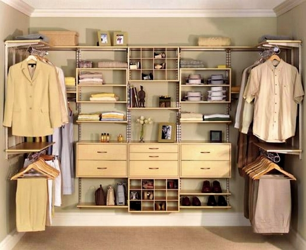 Closet Shelving Ideas With Maximum Storage Organization Minimalist Ideas For Walk In Closet With Floating Shoes Shelves And Drawers Pictures 80