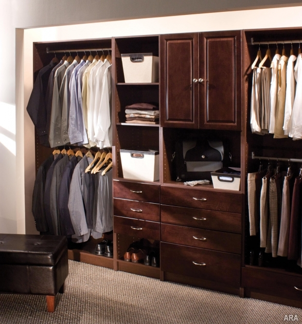 Closet Storage Systems Dark Brown Wooden Furniture Pic 46