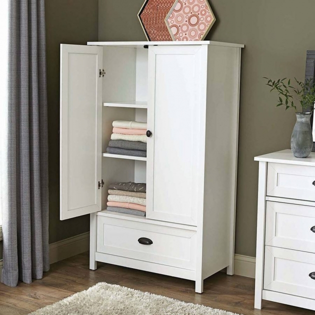 White Wardrobe Armoire Closet Storage Armoire Clothes Cabinet White Bedroom Furniture Dresser Picture 42