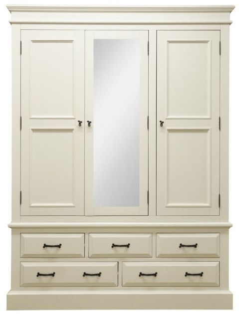 White Wardrobe Armoire Traditional White Painted Wooden Kids Wardrobe With Drawers Photo 25