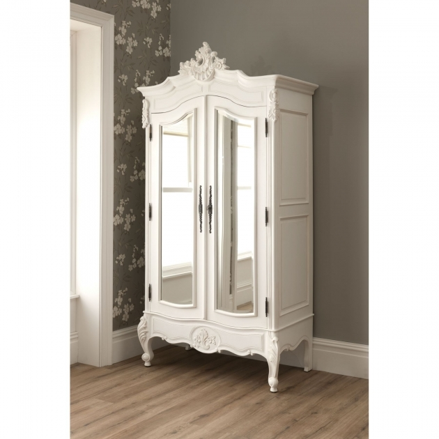 White Wardrobe Armoire With Mirror Door On Kahrs Flooring And White Baseboard Plus Peel Image 70