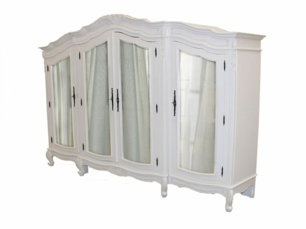 White Wardrobe Armoire With Mirror Good Solution For Your Clothes Storage Images 19