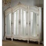 White Wardrobe Armoire With Morror Antique Design Ideas Image 00