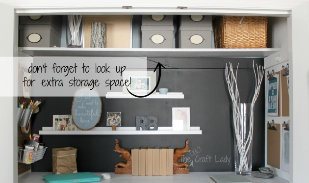 Extra Closet Storage Extra Storage Space In A Home Office Closet Photos