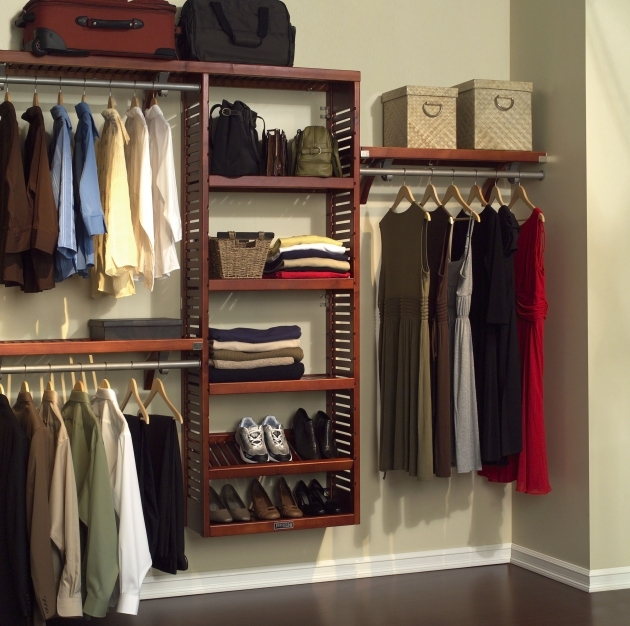 Extra Closet Storage Interesting Brown Varnishes Oak Wood Walk In Closet Built In Wall Pics