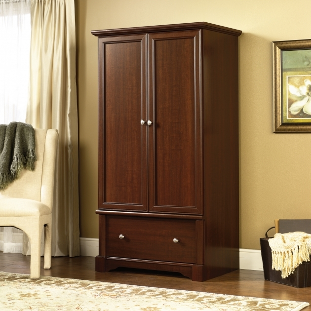 Sauder Wardrobe Armoire Select Cherry Armoire Picture