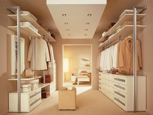 Bedroom Closet Organizers Bedroom Awesome Wooden Cabinets And Metal Racks On Bedroom Closet Photos