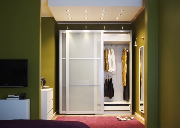 Bedroom Wardrobe Closet Spot Shutter Simple Small Sub Metal Stainless Steel Combination Image