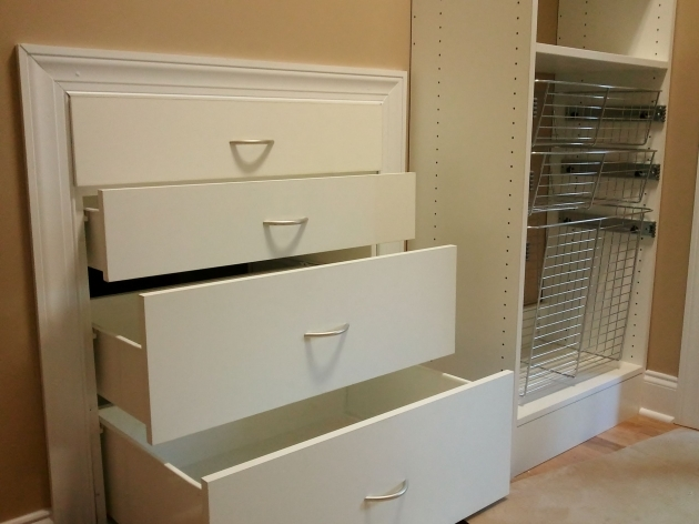 Closet Organizer Drawers White Custom Melamine Closet Va Installations Pictures