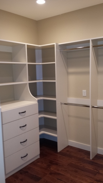 Closet Organizer Drawers White Pine Wood Closet Corner Shelving Units With Storage Drawers Photo