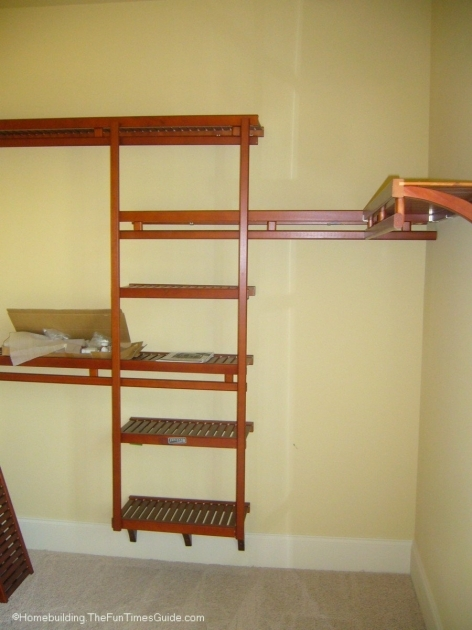 Closet Shelving Systems Spruce Up Your Walk In Closet With A Wood Closet Organizer Instead Image