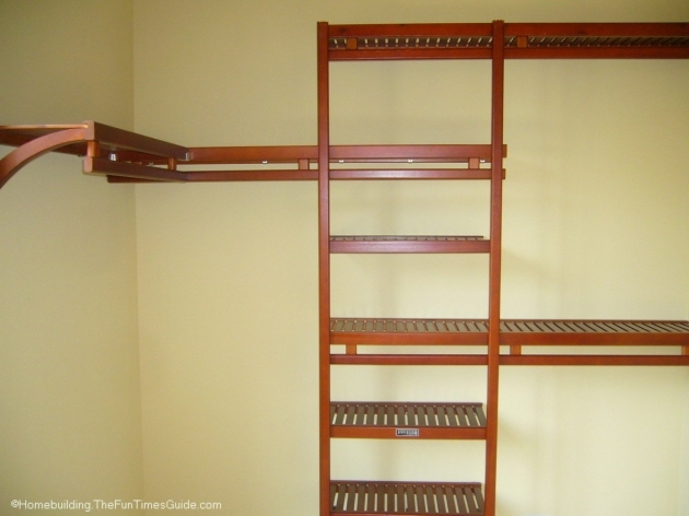 Closet Shelving Systems Spruce Up Your Walk In Closet With A Wood Closet Organizer Instead Pics