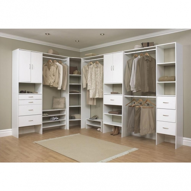 Closetmaid Closet Systems Closetmaid Selectives 16 In White Custom Closet Organizer 7032 Picture