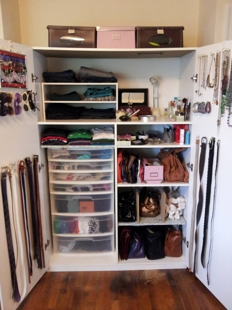 Clothes Storage Closet How To Organize A Lot Of Clothing In Very Little Closet Space Pic