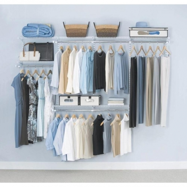 Rubbermaid Closet Organizer Rubbermaid Configurations Custom Closet 4 8 Ft White Deluxe Kit Pics