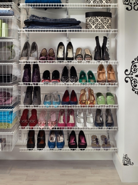 Shoe Storage In Closet Shoe Shelves For Closets Home Remodeling Ideas For Basements Pics