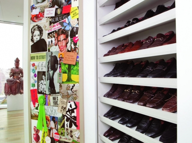 Shoe Storage In Closet Shoe Shelves For Closets Home Remodeling Ideas For Basements Picture