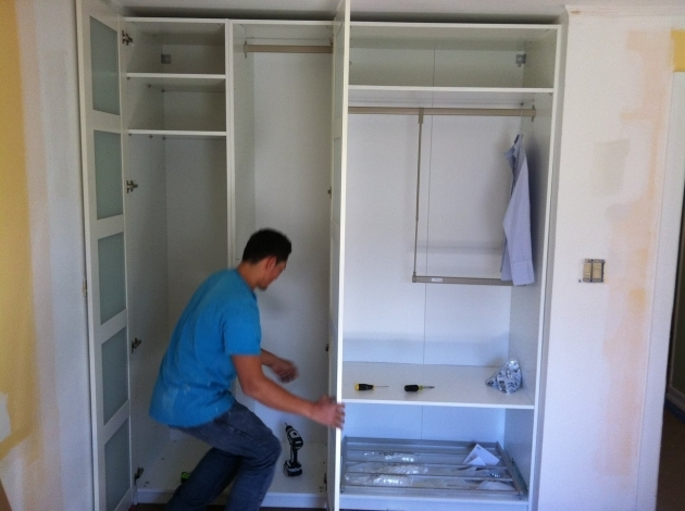 Tall Wardrobe Cabinet Recessed Wardrobe Closet With Varnished Wooden Cabinet Door And Pic