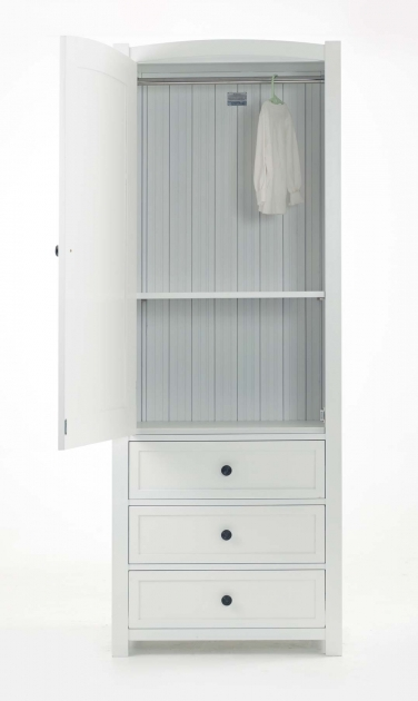 Tall Wardrobe Cabinet White Polished Solid Wood Tall Narrow Wardrobe With Three Drawers Photos