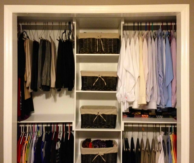 Wardrobe For Clothes Alluring Wardrobe System With Two Level Hanging Clothes Collection Pictures