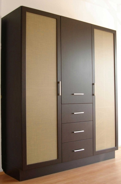 Wood Wardrobe Cabinet Enthralling Big High Rectangle Beige Brown Wooden Clothes Closet Picture