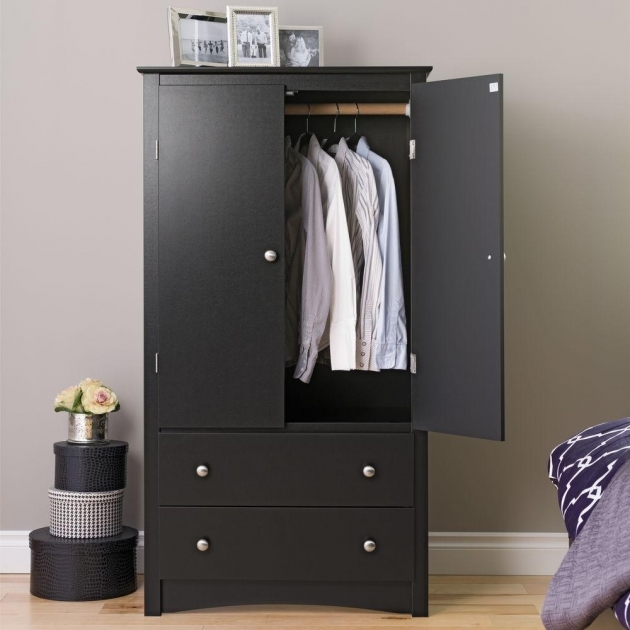 Black Armoire Wardrobe Armoires Bedroom Furniture Furniture The Home Depot Photo