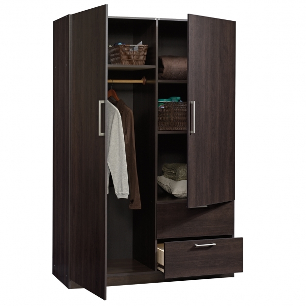 Black Armoire Wardrobe Furniture Grey Room With Wooden Floor Furnished With Black Armoire Images