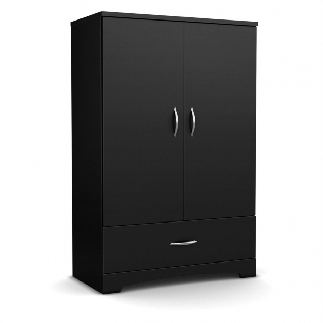 Black Wardrobe Armoire Black 2 Door Bedroom Armoire Wardrobe From Hearts Attic Anie Photo