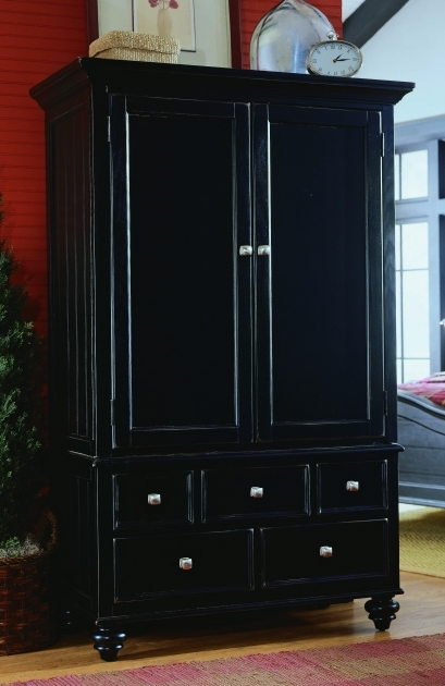 Black Wardrobe Armoire Clothing Armoire Black Closet Gallery Picture