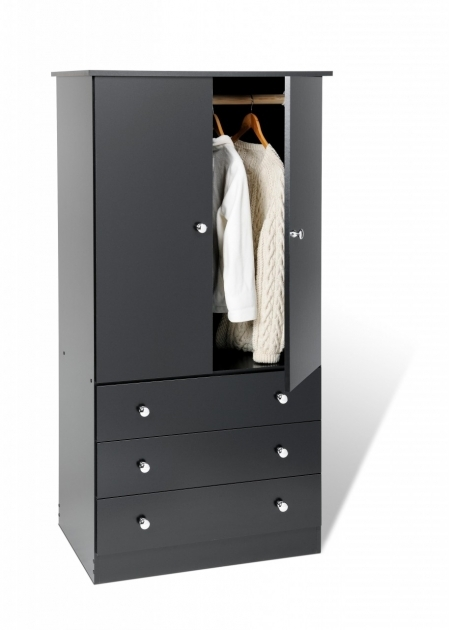 Black Wardrobe Armoire Edenvale Black 3 Drawer Wardrobe Armoire Prepac Pictures
