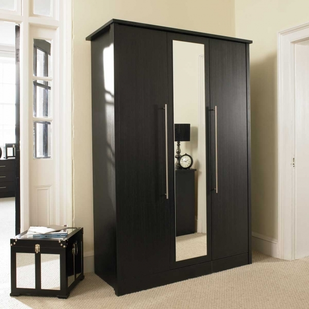 Black Wardrobe Armoire Minimalist Bedroom With Closet 4 Door Wardrobe In Black And Picture