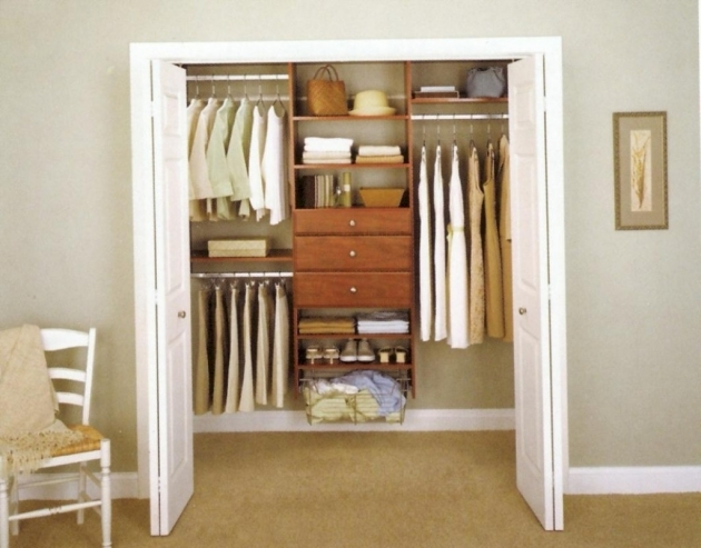 Built In Closet Systems Simple Brown Stained Wooden Floating Closet System Building A Picture