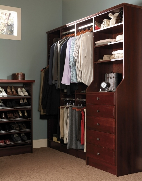 Closet Storage Cabinets Storage Small Hardwoood Closet Storage System With Separated Pic