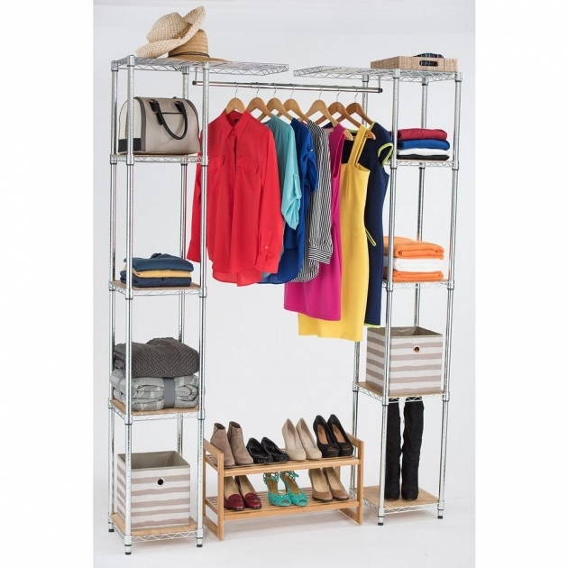 Expandable Closet Organizer Trinity 84 In H Chrome Expandable Closet Organizer Tbfz 2701 Photo