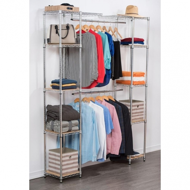Expandable Closet Organizer Trinity 84 In H Chrome Expandable Closet Organizer Tbfz 2701 Pic